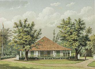 Sumedang - Image: COLLECTIE TROPENMUSEUM De woning van de assistent resident in Sumedang T Mnr 3728 816