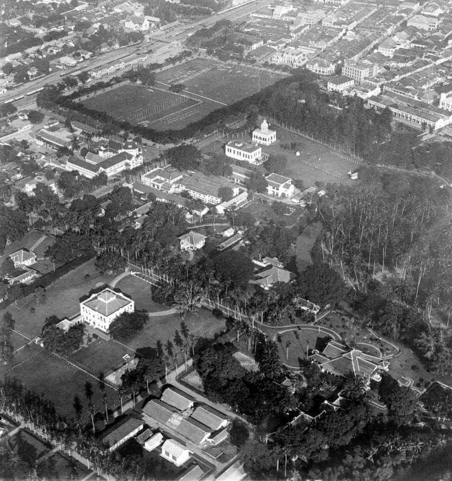 COLLECTIE TROPENMUSEUM Luchtfoto van Medan TMnr 10015042