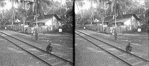 Banyumas Regency - Train at Banjoemas (Banyumas)