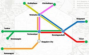 Bengaluru Commuter Rail - Image: CRS route map Schematic