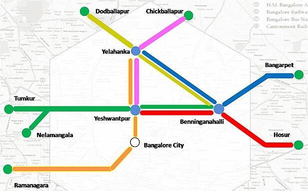 hal bangalore map