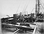 Cable laying machinery on the Great Eastern (5092775547).jpg
