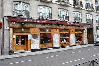 Café Gijón - Exterior wood façade of Café Gijón
