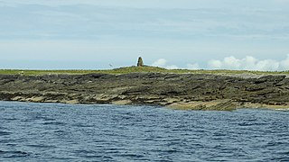 A tidal island in the Orkney Islands, linked to Egilsay