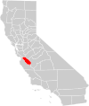 California county map (San Benito County highlighted).svg