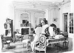 Callot Soeurs - The sales room of the haute couture house Callot Soeur, c.1910.