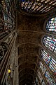 Cambridge - King's College Chapel 1446-1544 - Antechapel - View Up & East on the Fan Vaults & Stained Glass along the North Wall.jpg
