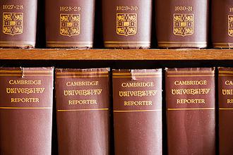 Cambridge University Reporter - Cambridge University Reporter volumes at Madingley Hall