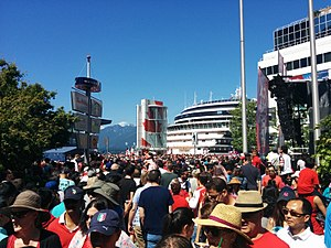 150th anniversary of Canada - Canada 150 celebrations at Canada Place in Vancouver, the largest event outside of Ottawa
