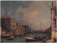Canaletto - Grand Canal looking East from the Campo S. Vio Holkham.jpg