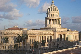 Politics of Cuba - El Capitolio, former seat of the National Assembly of People's Power.