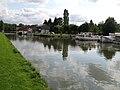 Cappy canal de la Somme (vue vers le Sud et le pont) 1.jpg