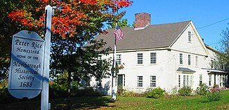 Marlborough, Massachusetts - The Peter Rice Homestead (c.1688), home of the Marlborough Historical Society
