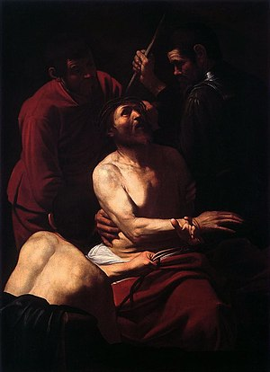 The Crowning with Thorns (Prato) - Image: Caravaggio Crowning 01