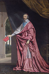 Philippe de Champaigne: Cardinal Richelieu - Not portrayed sitting like an ecclesiastical ruler, but standing like a secular prince