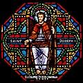 Carl Huneke's stained glass window - St. Joseph in St. Anne's Chapel in Fresno, CA.jpg