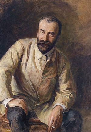Carl Moll - Carl Moll (1905),  attributed to Ludwig Michalek (1859-1942)