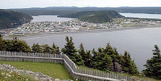 Placentia, Newfoundland and Labrador - Placentia as viewed from the site of a former fortress, now a national historic site