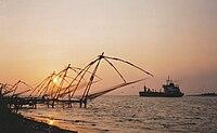 Carrelets à Cochin (Kerala).jpg