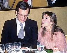 Carrie Fisher in una foto del 1978 in compagnia di Wim Wenders