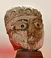 Carved ivory from Nimrud (Kalhu), human face, 9th to 7th century BCE. From Nimrud, Iraq. Iraq Museum, Baghdad.jpg