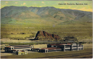 Barstow Harvey House - Casa del Desierto shortly after construction