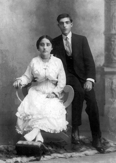 Casal imigrantes portugueses
