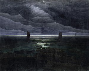 1836 in art - Image: Caspar David Friedrich Küste bei Mondschein