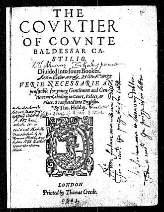 Ireland Shakespeare forgeries - Image: Castiglione p 1