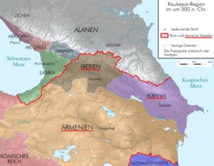 Saingilo - Image: Caucasus 300 map alt de