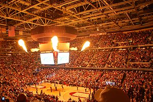 Sports in Cleveland - Cleveland Cavaliers pregame festivities at Quicken Loans Arena