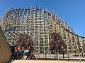 Cedar Point Mean Streak RMC refurbishment (1991).jpg