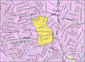 Census Bureau map of Saddle Brook, New Jersey.png