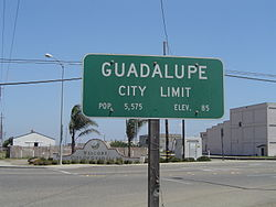Southern City Limit of Guadalupe