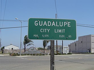 Guadalupe, California - Southern City Limit of Guadalupe