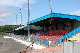 Scottish League Two - Image: Central Park stand geograph 477764