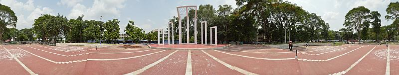 Central Shaheed Minar. 360 degree view, May 2015.