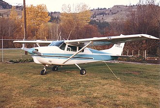 Cessna 210 - 1960 model Cessna 210, showing the strut-braced wing used on the early model 210.