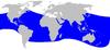 Cetacea range map Blainvilles Beaked Whale