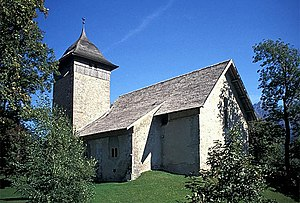 Château-d'Œx - Old church in Château-d'Œx