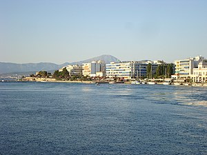 View of the city of Chalkida, Greece