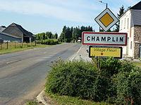 Champlin (Ardennes) city limit sign.JPG