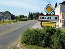 Champlin (Ardennes) city limit sign.JPG