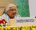 Chandresh Kumari Katoch addressing at the Plenary Session – India's Soft Power, at the 12th Pravasi Bharatiya Divas 'Engaging Diaspora Connecting Across Generation', in New Delhi on January 08, 2014.jpg