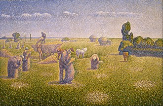 Charles Angrand -  Charles Angrand - The Harvesters - 1892