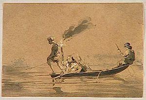 Charles Giraud, Pêche de nuit dans un lagon, 1840.jpg