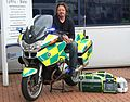 Charley Boorman on St John motorcycle ambulance.jpg