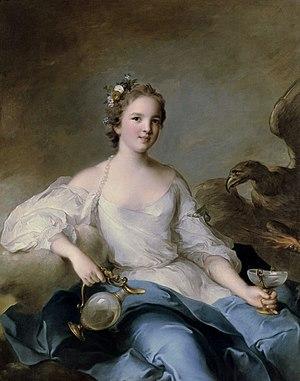 Louise de Rohan - Louise's eldest daughter, Charlotte Louise by Nattier, 1738