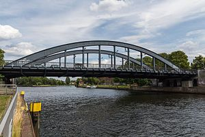 Charlotten Bridge - view of the Charlotten Bridge from the banks of the Harvel