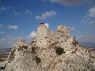 Nabatieh - Beaufort Castle, a Crusader castle near Nabatieh.